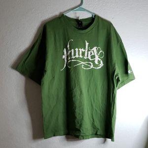 Hurley 2XL Green 100% Cotton